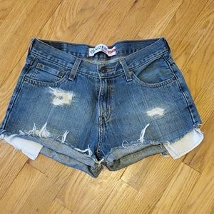 Levi's Shorts - Levi's Denizen cutoff destroyed jean shorts sz 29